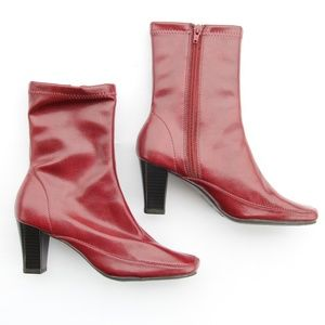 Aerosoles New Gene Red Ankle Boots Booties 5.5